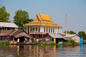 Travel photography:Temple on stilts near Tonle Sap lake, Cambodia