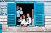 Travel photography:School kids near Tonle Sap lake, Cambodia