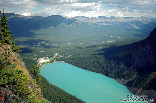Aerial view of Lake Louise