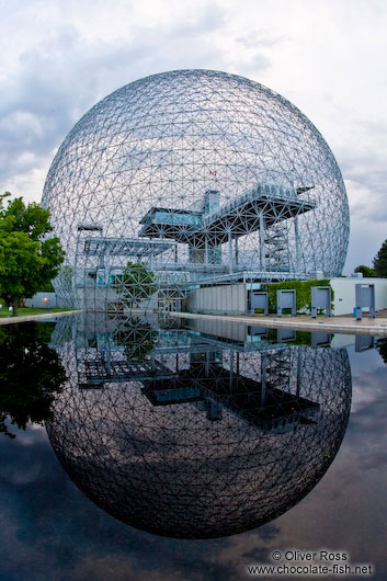Montreal biosphere with lake