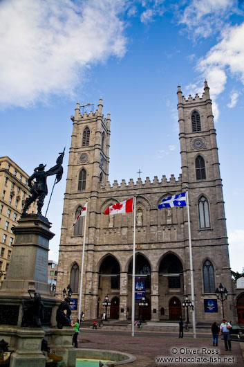 The Basilica de Notre Dame cathedral in Montreal
