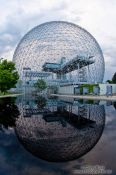 Travel photography:Montreal biosphere with lake, Canada