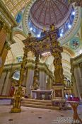 Travel photography:Main altar inside the Cathedrale Marie Reine du Monde cathedral, Canada