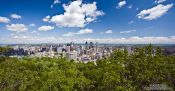 Travel photography:Montreal city panorama, Canada