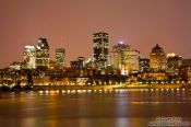Travel photography:Montreal city skyline by night , Canada