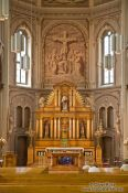 Travel photography:MAin altar inside the Eglise du Gesu church in Montreal, Canada