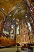 Travel photography:Main altar inside the Saint Patricks basilica in Montreal, Canada
