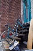 Travel photography:Abandoned bike in Montreal, Canada