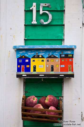 St. John´s letterbox with apples