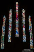 Travel photography:Church windows inside the St. John´s basilica, Canada