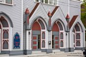 Travel photography:Entrance to the United Church in St. John´s, Canada