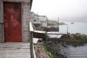 Travel photography:Wooden shacks in St. John´s harbour, Canada