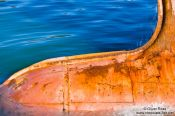 Travel photography:Bulbous bow of a ship in St. John´s harbour, Canada