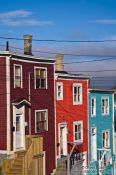 Travel photography:Wooden houses in St. John´s, Canada