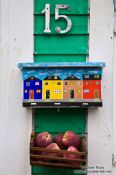 Travel photography:St. John´s letterbox with apples , Canada
