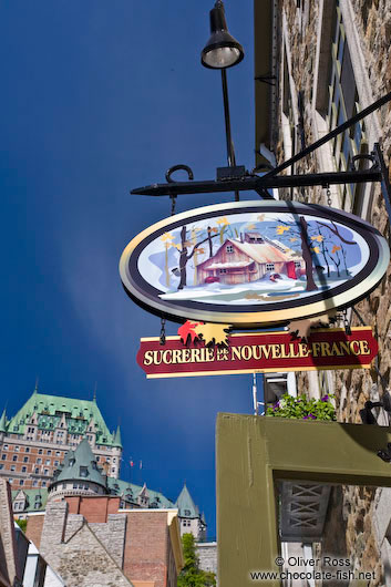 Sugar shop in Quebec´s lower old town (basse ville)