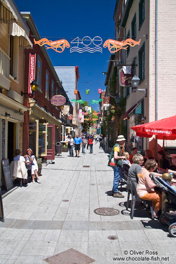 Street in Quebec´s lower old town (basse ville)