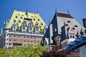Travel photography:Quebec´s Château Frontenac castle , Canada