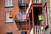 Travel photography:Watering can street lights in Quebec´s old town, Canada