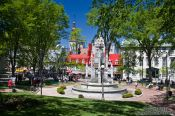 Travel photography:The Place d´armes square in Quebec, Canada
