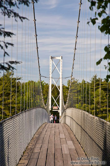 Passarelle suspension bridge in the Parc Chute de la Chaudière near Quebec city