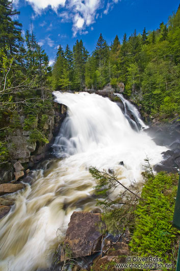 The Chute du diable waterfall in Quebec´s Mont Tremblant National Park