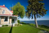 Travel photography:Living along the Saint Lawrence river in Cap Sainte Famille, Canada