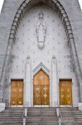 Travel photography:Entrance portal of the Notre Dame du Cap pilgrimage church, Canada