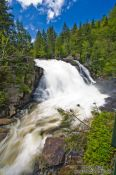 Travel photography:The Chute du diable waterfall in Quebec´s Mont Tremblant National Park, Canada