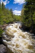 Travel photography:The Chutes croches waterfalls in Quebec´s Mont Tremblant National Park, Canada