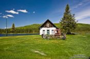 Travel photography:House near Quebec´s Mont Tremblant National Park, Canada