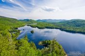 Travel photography:The Lac Monroe lake in Quebec´s Mont Tremblant National Park, Canada