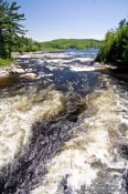 Travel photography:River in Lake near Quebec´s Mont Tremblant National Park, Canada