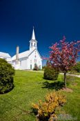 Travel photography:Church in a small town near Quebec´s Mont Tremblant National Park, Canada