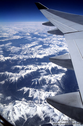 The Rocky Mountains from the air