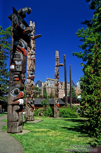 Totem Poles in Victoria, Vancouver Island