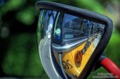 Travel photography:School Bus Mirror, Canada