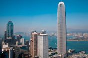 Travel photography:Hong Kong downtown with bay, China