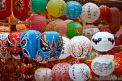Travel photography:Colourful lanterns at a market in Hong Kong, China