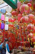 Travel photography:Traditional Chinese lanterns at a Hong Kong market , China