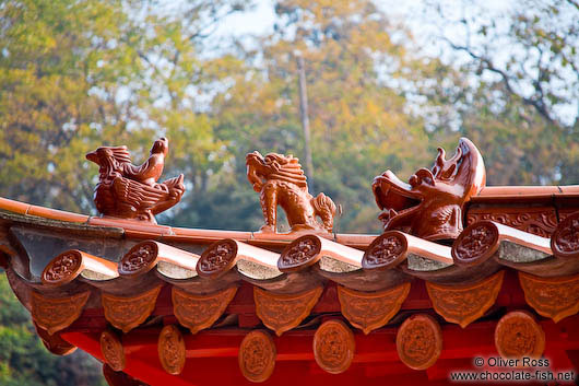 Roof detail at Kunming´s Yuantong temple