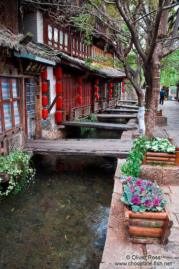 Water canal in Lijiang´s old town