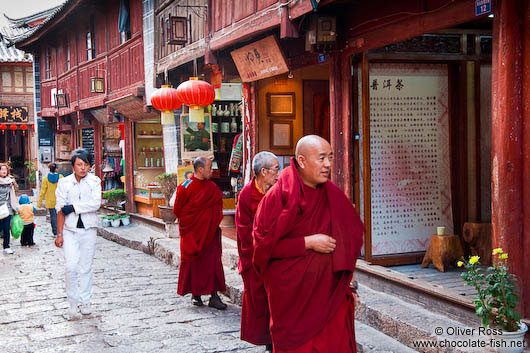 Monks in a Lijiang street