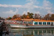 Travel photography:Tourist boats on Erhai Lake near Dali, China