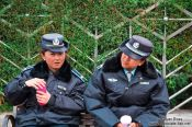 Travel photography:Dali police women , China