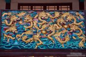 Travel photography:Carved wooden display in Kunming´s Yuantong temple , China