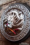 Travel photography:Dragon sculpture at Kunming´s Yuantong temple , China