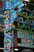 Travel photography:Facade detail of the Longevity Pavillion in Lijiang´s Black Dragon Pool park, China