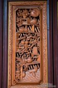 Travel photography:Carved door in Lijiang, China