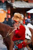 Travel photography:Lijiang horse man , China